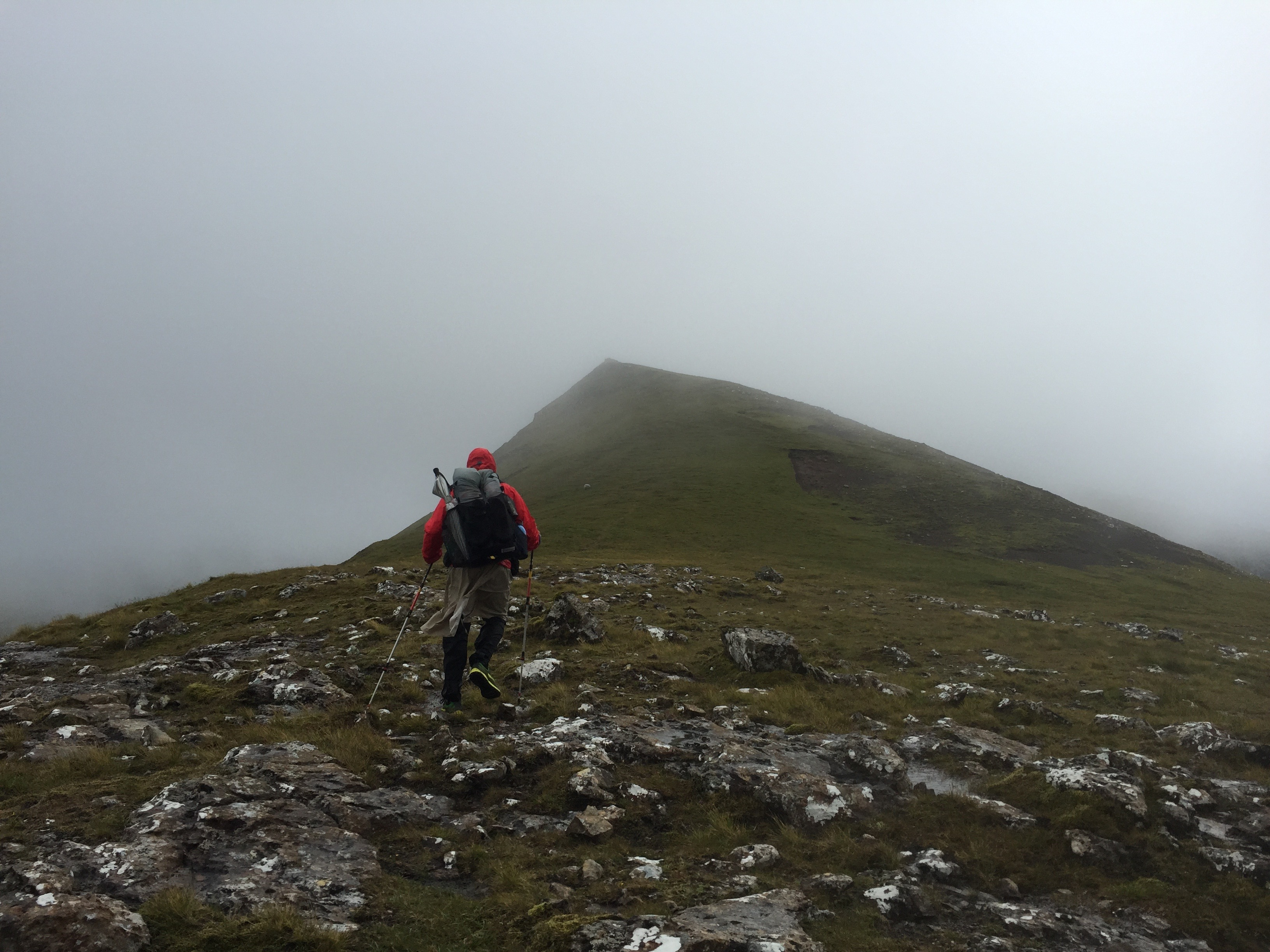Wind, whiteout conditions, and 1000ft cliffs on the Trotternish Ridge